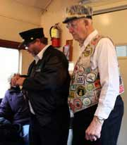 Volunteers on the Hocking Valley Scenic Railroad